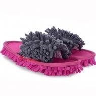UPRATOVACIE papuče veľkosť 36 - 40 šedo - ružové