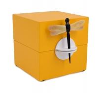 DEKORATÍVNA kazeta s vážkou žltá