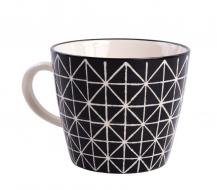 HRNČEK s mozaikovým vzorom čierny