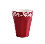 KERAMICKÝ pohár červený
