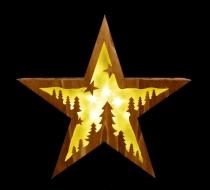 SVIETIACA drevená hviezda