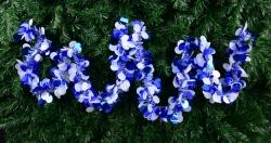 DEKORAĆNÁ reťaz modro - biela