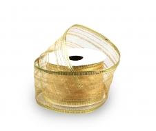 DEKORAČNÁ stuha zlatá