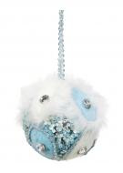 WHITE&BLUE ozdobná guľa