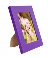 RÁMIK na fotku 9 x 13 cm tmavo - fialový