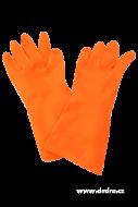 OCHRANNÉ gumené rukavice oranžové