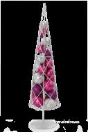 STROMČEK strieborno-ružovo-fialový
