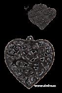 ČIPKOVANÉ srdce 5 ks