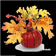 DEKORÁCIA v jesenných farbách tekvica