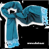 METALICKÝ pléd modro - čierny