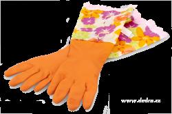 FUNNY dlhé upratovacie rukavice