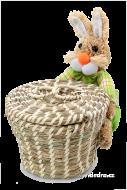 ZAJAC s košíkom zelený