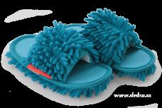 UPRATOVACIE papuče veľkosť 41 - 45 tyrkysové