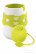HRNČEK + sítko na čaj sada zelená