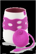 HRNČEK + sítko na čaj sada fialová