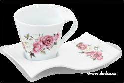 TWIST hrnček s motívom romantických kvetov