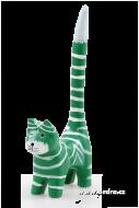 MAČKA zelená s bielymi pruhmi