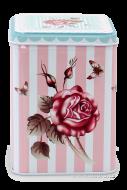 ROSE & BUTTERFLY hranatá dóza výška 12 cm