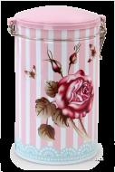 ROSE & BUTTERFLY vysoká dóza priemer 10,5 cm