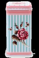 ROSE & BUTTERFLY hranatá dóza ružová