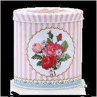 ROSE & BUTTERFLY oválna dóza ružová