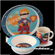 SUPER BOY jedálenská sada pre deti