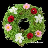 VENIEC z prútia a kvetov