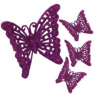 ČIPKOVANÝ motýlik 4 ks