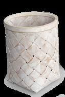 PLETENÝ kôš biely výška 24,5 cm