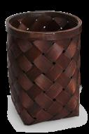 PLETENÝ kôš mahagónový výška 25,5 cm