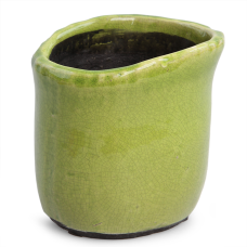 KVETINÁČ zelený výška 13,5 cm