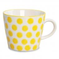 STRIPES&DOTS hrnček so žltými bodkami