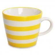 STRIPES&DOTS hrnček so žltými pruhmi