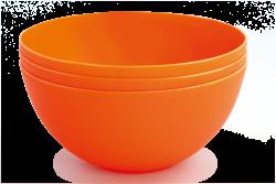 MISKA oranžová 900 ml sada
