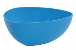 TROJHRANNÁ miska modrá
