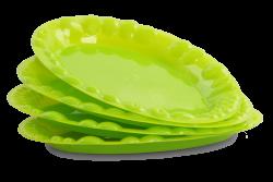 PLASTOVÝ tanier zelený sada