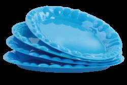 PLASTOVÝ tanier modrý sada