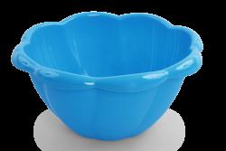 XL MISA v tvare kvetu modrá