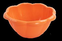 XL MISA v tvare kvetu oranžová