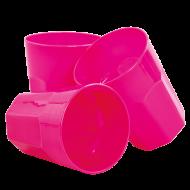 PLASTOVÝ pohár ružový sada