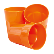 PLASTOVÝ pohár oranžový sada