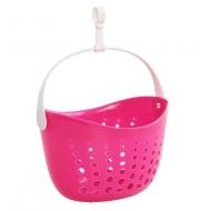ZÁVESNÝ košík na štipce ružový