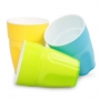 PLASTOVÝ pohár žltý