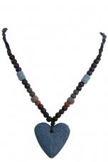 NATURAL náhrdelník so srdiečkom