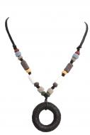 NATURAL náhrdelník čierny kruh