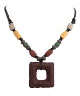 NATURAL náhrdelník etno hnedý
