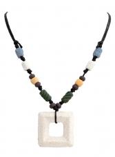 NATURAL etno náhrdelník prírodné tóny