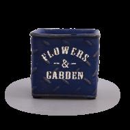 FLOWERS & GARDEN kvetináč modrý