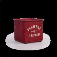 FLOWERS & GARDEN kvetináč červený