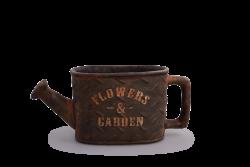 FLOWERS & GARDEN kvetináč hnedo - šedý